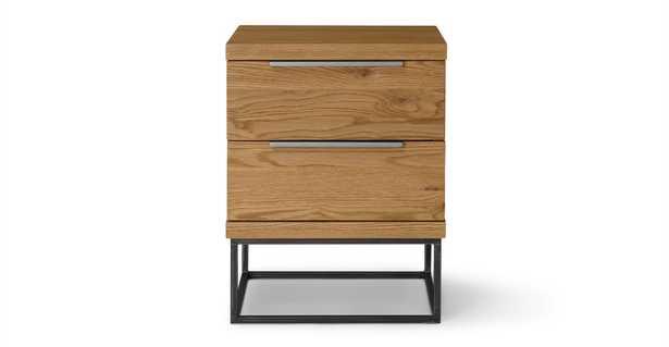 Taiga Oak 2 Drawer Nightstand - Article