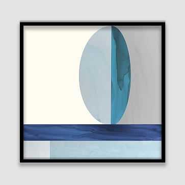"Framed Watercolor Print, Split Oval, 26""x26"" - West Elm"