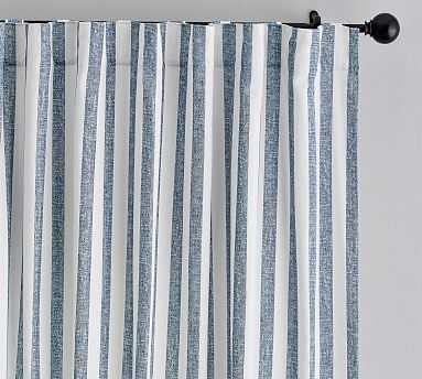 "Eden Stripe Curtain Set of 2 , 96"", Blue - Pottery Barn"