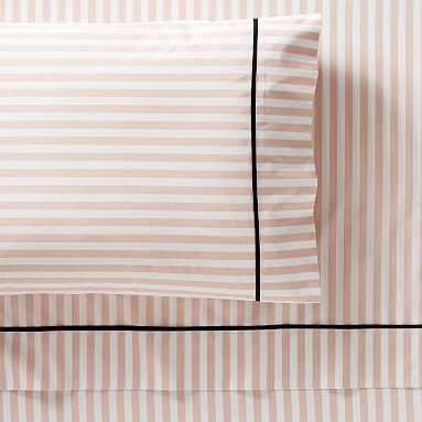 The Emily & Meritt Pirate Stripe Sheet Set, Queen, Blush - Pottery Barn Teen