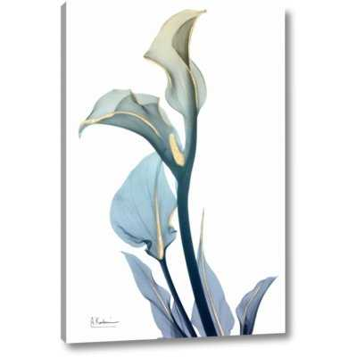 'Gold Splash Calla Lily 1' by Albert Koetsier Giclee Art Print on Wrapped Canvas - 36x24 - Wayfair