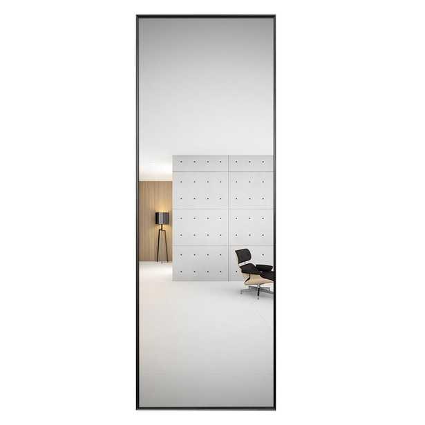 Black Thin Frame Full Length Mirror - Home Depot