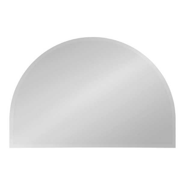 Reign Half Circle Silver Wall Mirror - Home Depot