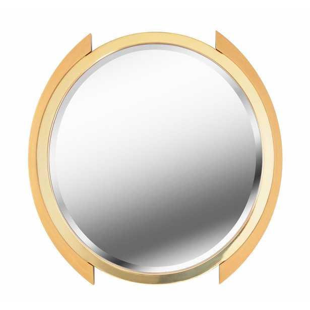 Maiar Round Gold Dresser Wall Mirror - Home Depot