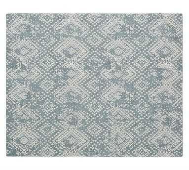 Zahara Synthetic Rug, Blue, 8 x 10' - Pottery Barn
