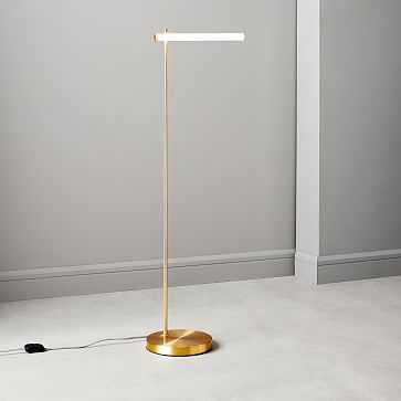 Light Rods LED Reader Floor Lamp, Antique Brass - West Elm
