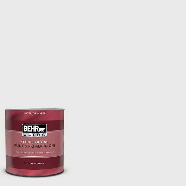 BEHR ULTRA 1 qt. #HDC-CT-22G Chalk Dust Matte Interior Paint and Primer - Home Depot