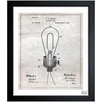 Edison Electric Lamp 1882 Framed Graphic Art - Wayfair