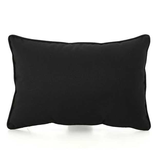 Noble House Coronado Black Outdoor Throw Pillow - Home Depot