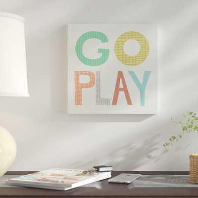 'Kid Play III' Textual Art  on Wrapped Canvas - Wayfair