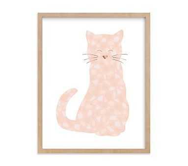 Terazzo Kitten Wall Art by Minted(R), 11x14, Natural - Pottery Barn Kids