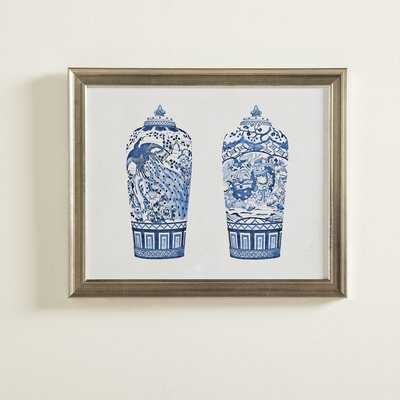 'Porcelain Vase Duo' Picture Frame Print - Birch Lane