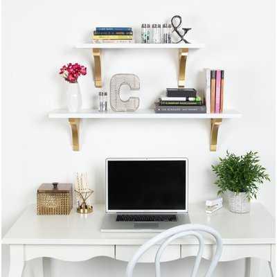"Hornyak Traditional Wood Wall Shelf - 36"" W - Wayfair"