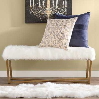 Farley Fabric Bench - Wayfair