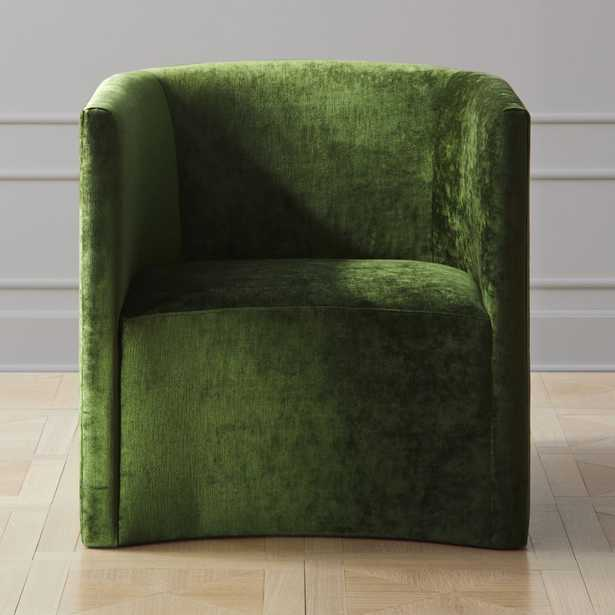 Covet Cypress Velvet Curved Chair - CB2