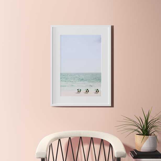 "Beach life with white frame wall art -  23.5""x31.5"" - CB2"