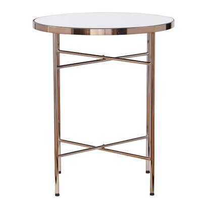 Chesson Mirrored Round End Table - Wayfair