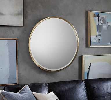 "Layne Mirror, Gold - 36"" Round - Pottery Barn"