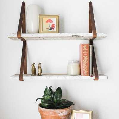 Littleton Hanging 2 Piece Floating Shelf Set - Wayfair