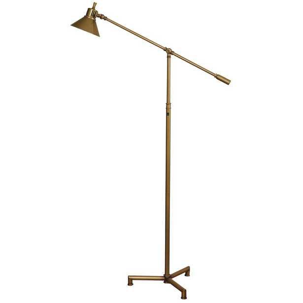 StyleCraft 58 in. Dark Bronze Floor Lamp with Hemlock Metal Shade - Home Depot