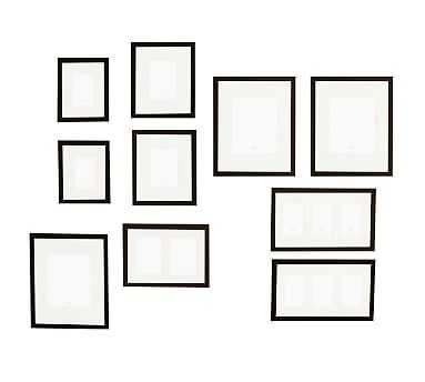 Gallery in a Box, Black Frames, Set of 10 - Pottery Barn