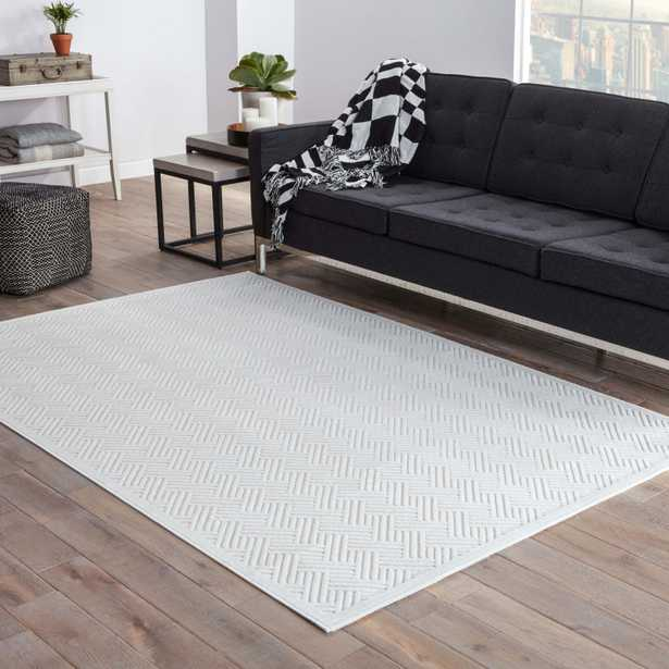 Thatch Geometric White Area Rug (9' X 12') - Collective Weavers