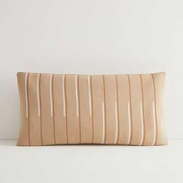 JUNEDAY Hana Lumbar Pillow Cover, Small, Hazelnut - West Elm