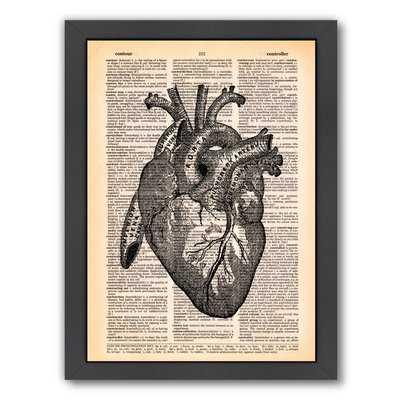 'Heart' Art Framed Graphic Art Print - Wayfair