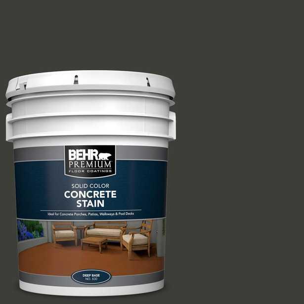 BEHR Premium 5 gal. #PFC-75 Tar Black Solid Color Flat Interior/Exterior Concrete Stain - Home Depot