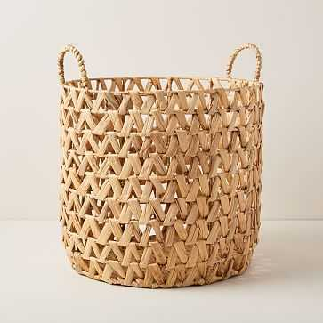 Open Weave ZigZag Baskets, Large - West Elm