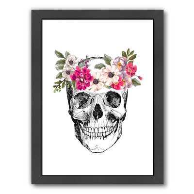 Skull Framed Painting Print - Wayfair