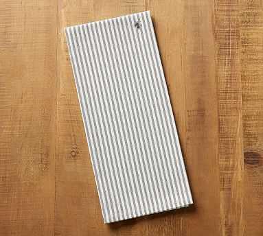 Wheaton Stripe Tea Towel - Charcoal - Pottery Barn