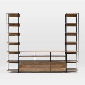 "Industrial Storage Modular System Set 3:  67"" Media +2 17"" Bookshelves - West Elm"