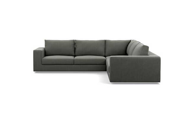 Walters Corner Sectional with Grey Tent Fabric - Interior Define
