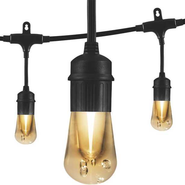 Vintage 48 ft. Black Integrated LED Cafe String Lights - Home Depot