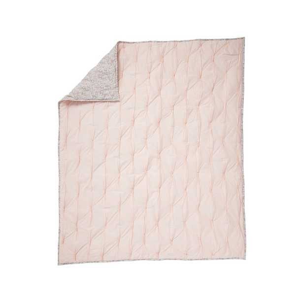 Chic Pink Floral Baby Quilt - Crate and Barrel