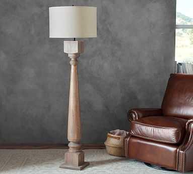 Finn Turned Wood Floor Lamp Base - Pottery Barn