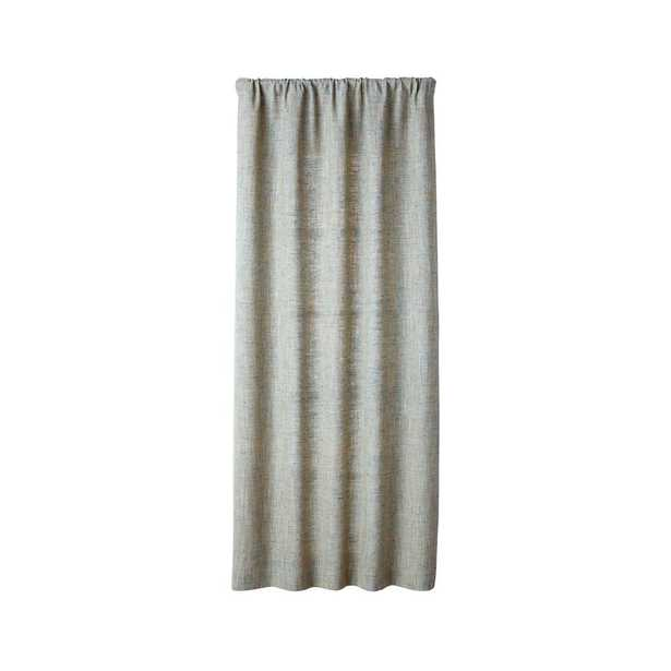 """Reid Abyss Curtain Panel 48""""x108"""" - Crate and Barrel"""