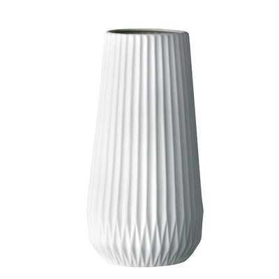 Ceramic Fluted Vase - Wayfair