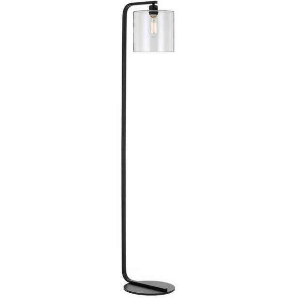 AF Lighting Lowell 60.5 in. Black Floor Lamp with Clear Glass Globe - Home Depot