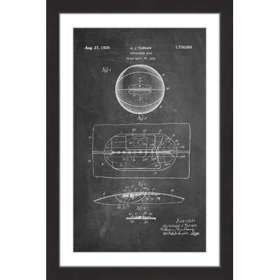 'Basketball 1925 Chalk' by Steve King Framed Painting Print - Wayfair