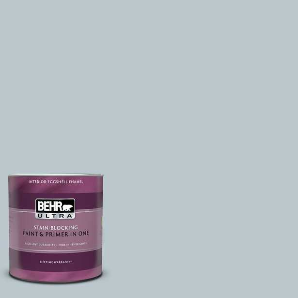 BEHR ULTRA 1 qt. #N470-2 Oceanic Climate Eggshell Enamel Interior Paint and Primer in One - Home Depot