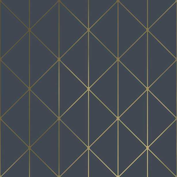 Engblad & Co 57.8 sq. ft. Diamonds Navy (Blue) Geometric Wallpaper - Home Depot
