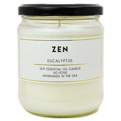 Zen Eucalyptus Essential Oil Soy Scented Jar Candle - Wayfair