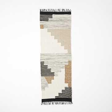 Colca Wool Rug, Flax, 2.5'x7' - West Elm