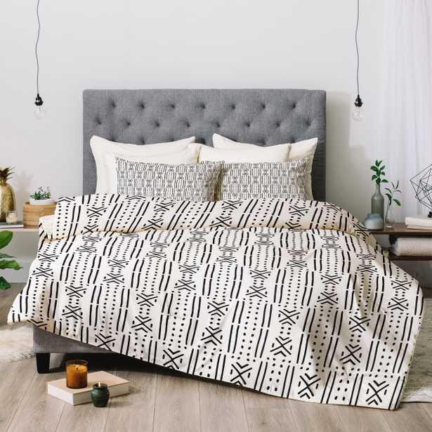 Holli Zollinger MUDCLOTH WHITE Comforter - King / Comforter Only - Wander Print Co.