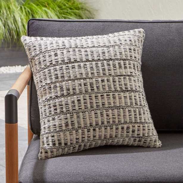 Mohave Heathered Outdoor Pillow. - Crate and Barrel