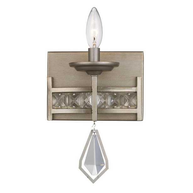 Bel Air Lighting Eli 1-Light Antique Silver Leaf Sconce - Home Depot