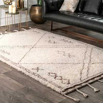 Montclair Hand-Tufted Wool Beige Area Rug - Wayfair