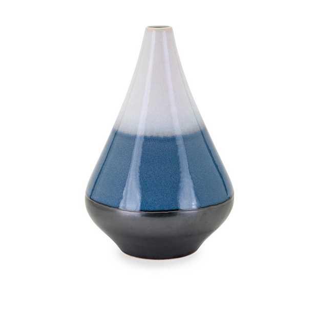 Imax Medium Blue Ceramic Decorative Vase, Blues - Home Depot